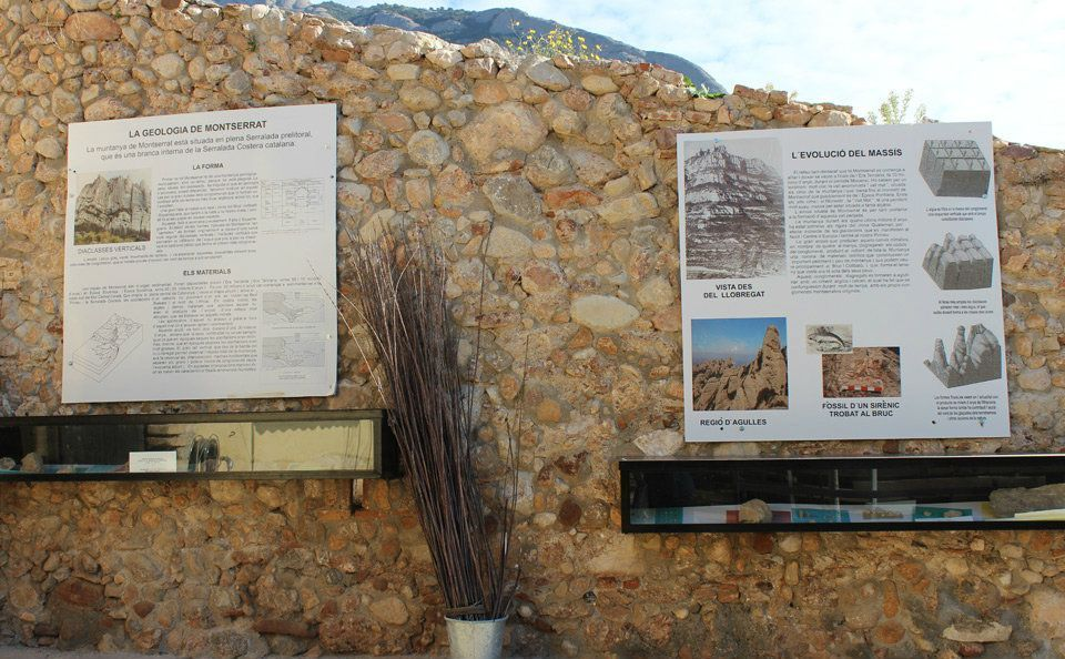 small Montserrat geological exposition